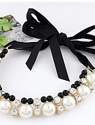 Недорогие -Жен. Лассо Ожерелье из бисера - Искусственный жемчуг Мода Белый 42 cm Ожерелье 1шт Назначение Повседневные