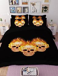 Недорогие -наборы для одеяла на Хэллоуин Современная полиэстерная реактивная печать 3 шт.
