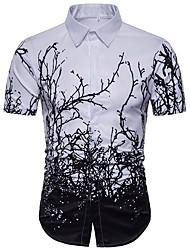 cheap -Men's Basic Shirt - Floral