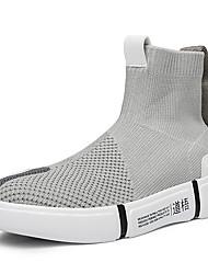 Недорогие -Муж. Полотно Лето Удобная обувь Спортивная обувь Беговая обувь / Для прогулок Контрастных цветов Черный / Серый / Черный / Красный