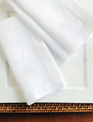 Недорогие -Классика Хлопок Квадратный Салфетки-подстилки Однотонный Настольные украшения 6 pcs
