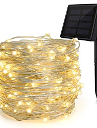 cheap -KWB 4x5M String Lights 200 LEDs 1Set Mounting Bracket Warm White / RGB / White Solar / Waterproof / Decorative Solar Powered 1set