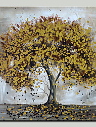 cheap -Oil Painting Hand Painted - Landscape / Floral / Botanical Modern Canvas