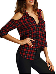 cheap -Women's Active Shirt - Check