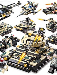 abordables -Blocs de Construction 834 pcs Militaire / Tank Créatif Tous Cadeau