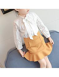 Недорогие -малыш Девочки Однотонный / Контрастных цветов Длинный рукав Набор одежды