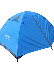 cheap -2 person Backpacking Tent Double Layered Poled Dome Camping Tent One Room  Outdoor Windproof  for Fishing PU Leather 200*140*130 cm / Waterproof / Ultra Light (UL) / Waterproof