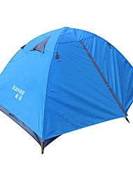 abordables -2 Personas Tiendas de Campaña para Senderismo Doble Capa Palo Domótica Carpa para camping Al aire libre Resistente al Viento, Impermeable, Portátil para Pesca / Playa / Camping Cuero de PU, PU