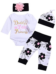 cheap -Baby Girls' Solid Colored Long Sleeve Clothing Set
