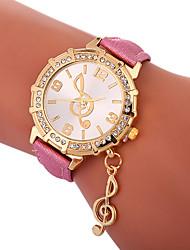 Недорогие -Xu™ Жен. Нарядные часы / Наручные часы Китайский Творчество / Повседневные часы / Милый PU Группа Мода / Элегантный стиль Черный / Белый / Синий / Имитация Алмазный / Крупный циферблат / Один год