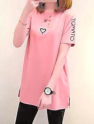 economico -T-shirt Per donna Per uscire Moda città Alfabetico / Largo