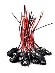 abordables -20pcs 9v je tape connecteur de rupture de batterie connecteur de pinces de batterie de 9 volts