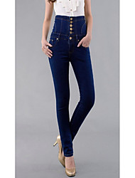 cheap -Women's Jeans Pants - Solid Colored Rivet