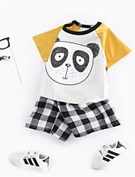 Недорогие -Дети (1-4 лет) Мальчики Контрастных цветов С короткими рукавами Набор одежды