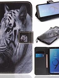 economico -Custodia Per Samsung Galaxy S9 A portafoglio / Porta-carte di credito / Con supporto Integrale Animali Resistente pelle sintetica per S9