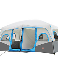 cheap -Shamocamel® 8 person Family Tent Double Layered Automatic Instant Cabin Camping Tent Two Rooms Outdoor Portable, Waterproof, Rain-Proof for Camping / Hiking / Fishing / Climbing 2000-3000 mm