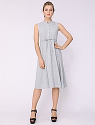 cheap -Women's Basic A Line Dress Lace up