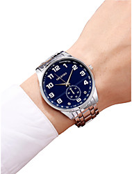 cheap -Men's Wrist Watch Chinese Chronograph / Casual Watch / Large Dial Stainless Steel Band Bangle / Minimalist Silver