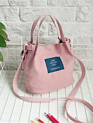 cheap -Women's Bags Canvas Tote Zipper Blushing Pink / Yellow / Gray Green