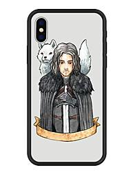 baratos -Capinha Para Apple iPhone X / iPhone 8 Plus Estampada Capa traseira Animal / Desenho Animado Rígida Acrílico para iPhone X / iPhone 8 Plus / iPhone 8