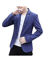 cheap -Men's Business Blazer-Solid Colored