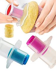 Недорогие -2pcs пластик Многофункциональный Творчество Регулируется Торты Cupcake Пироги Круглый Формы для пирожных Инструменты для выпечки Десертные инструменты Инструменты для выпечки