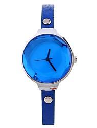 cheap -Xu™ Women's Dress Watch Wrist Watch Quartz Creative Casual Watch Large Dial PU Band Analog Casual Fashion Black / Blue / Red - Beige Red Blue One Year Battery Life
