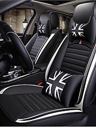 billige -ODEER Sædepuder til din bil Sædebetræk Sort / Hvid Kunstigt Læder Normal for Universel Alle år Alle Modeller