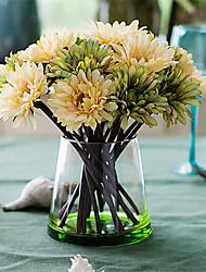 baratos -Flores artificiais 7 Ramo Clássico Europeu / Estilo simples Margaridas Flor de Mesa