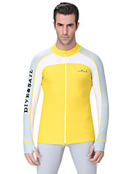 cheap -Dive&Sail Men's Diving Rash Guard SPF50, UV Sun Protection, Quick Dry Spandex Long Sleeve Swimwear Beach Wear Sun Shirt / Top Classic Swimming / Diving / Breathable / Anatomic Design / Stretchy