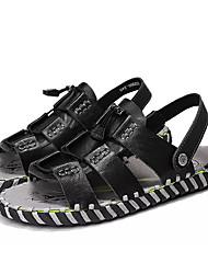 povoljno -Muškarci Cipele Koža Ljeto Udobne cipele Sandale Obala / Crn / Braon