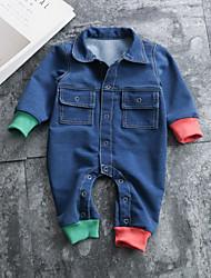 cheap -Baby Unisex Color Block Long Sleeve Romper