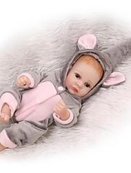 Недорогие -NPKCOLLECTION NPK DOLL Куклы реборн Мальчики 12 дюймовый Полный силикон для тела Винил - Новорожденный Подарок Искусственная имплантация Коричневые глаза Детские Мальчики / Девочки Игрушки Подарок