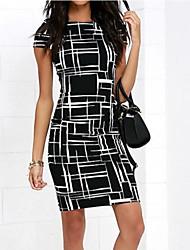 preiswerte -Damen Ausgehen Schlank Hülle Kleid Mini Hohe Taillenlinie