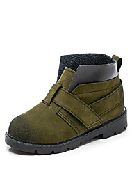 cheap -Boys' Shoes PU(Polyurethane) Spring / Fall Comfort Boots Walking Shoes for Baby Green