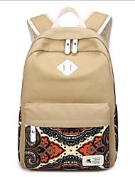 cheap -Women's Bags Canvas School Bag Pattern / Print Red / Dark Blue / Khaki