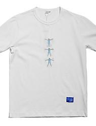 お買い得  -男性用 Tシャツ ベーシック 幾何学模様