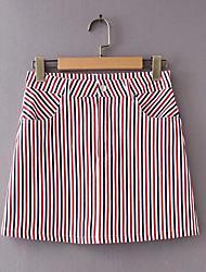 cheap -Women's Going out A Line Skirts - Striped High Waist