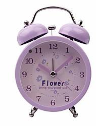 abordables -Reloj despertador Analógico Metal Cuarzo 1 pcs