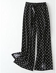 cheap -women's loose wide leg pants - polka dot