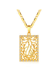 cheap -Women's Thick Chain / Hollow Pendant Necklace - 18K Gold Plated Locket Vintage, Ethnic Gold, Silver 50 cm Necklace 1pc For Party, Gift