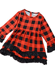 お買い得  -赤ちゃん 女の子 ストライプ 長袖 ドレス