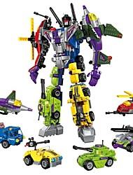 Недорогие -Конструкторы Конструкторы Игрушки Обучающая игрушка 506 pcs Автомобиль Вертолет Робот совместимый Legoing трансформируемый Мальчики Девочки Игрушки Подарок