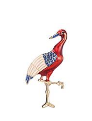 abordables -Femme Sculpture Broche - Elégant, Classique Broche Rouge foncé Flamant Pour Quotidien