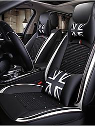 billige -ODEER Sædepuder til din bil Sædebetræk Sort / Hvid Tekstil / Kunstigt Læder Normal for Universel Alle år Alle Modeller