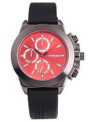 Недорогие -SHI WEI BAO Муж. Спортивные часы Армейские часы Наручные часы Японский Кварцевый Панк Крупный циферблат силиконовый Группа Аналоговый На каждый день Мода Черный - Черный Красный Синий / Один год