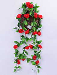 cheap -Artificial Flowers Branch Classic Pastoral Style Roses Wall Flower