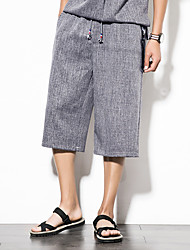 cheap -Men's Active Harem Pants - Solid Colored Blue & White, Pleated