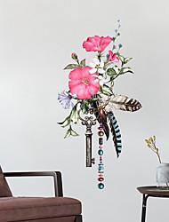 Недорогие -Декоративные наклейки на стены - Простые наклейки Цветочные мотивы / ботанический Гостиная / Спальня / Ванная комната / Положение регулируется