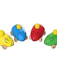 Недорогие -Игрушечные машинки Мышь Взаимодействие родителей и детей Жутко деревянный Детские Все Мальчики Девочки Игрушки Подарок 1 pcs